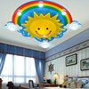 Lámpara de techo creativa para habitación de niños con luz cálida, iluminación led para habitación de niños y niñas con dibujos animados