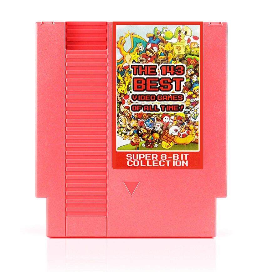 ¡Los mejores videojuegos de todos los tiempos 143 en 1! Contra/Tierra bound/Megaman 123456/turtters 1234 72 pines tarjeta de juego de 8 bits