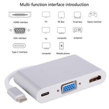 USB type C vers HDMI USB 3.0 adaptateur de charge convertisseur USB-C 3.1 adaptateur de moyeu pour MacBook Pro Pixel Huawei Mate10 Samsung S8 + Plus