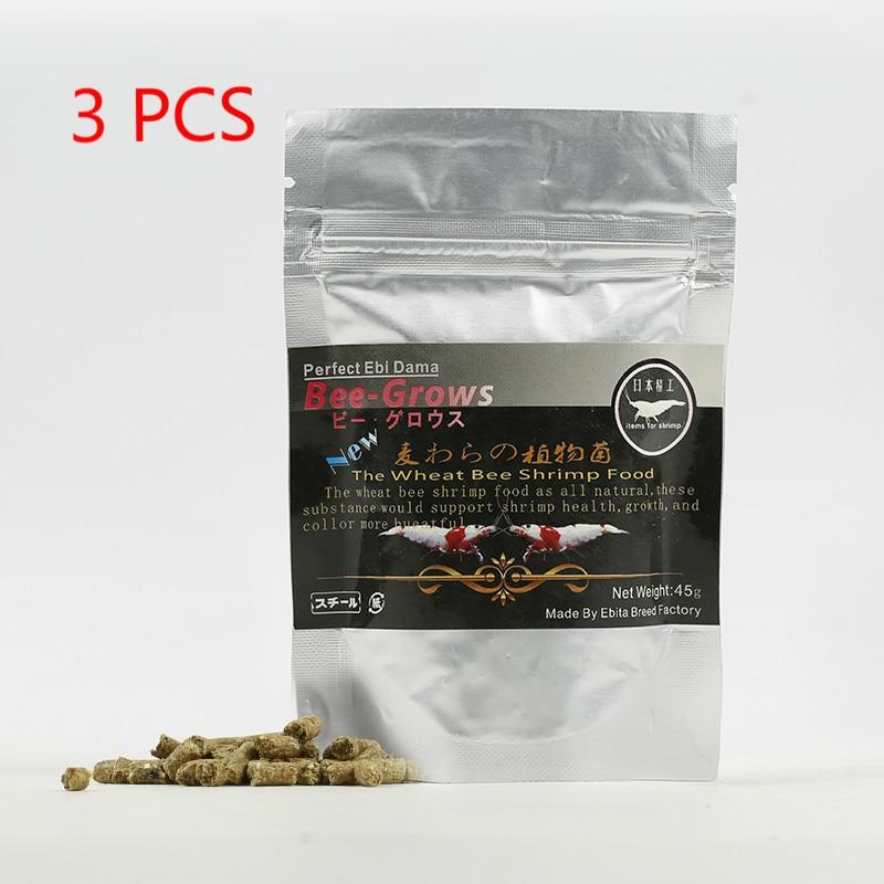 3x45g acuario cristal Camarón abeja-crece rojo cereza Camarón comida trigo Stem bacterias nutrición Natural