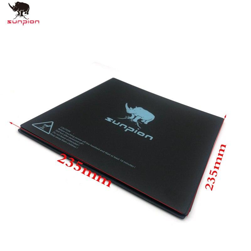 Детали для 3D-принтера, строительная Поверхностная пластина, магнитная лента для печатной платформы, нагревательная бумага 235*235 мм для Creality ...