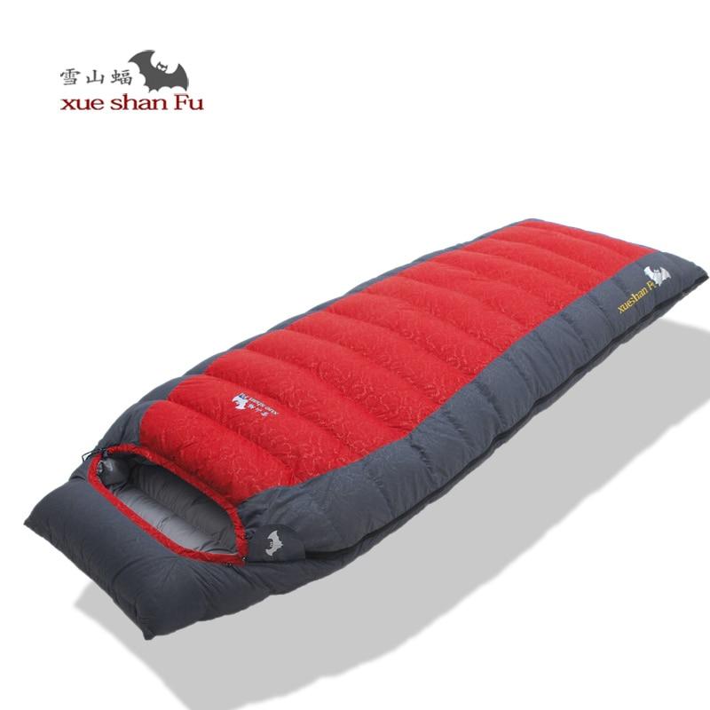 Xueshanfu-Saco De Dormir De ganso blanco De alta calidad, 1000G/1200G/1500G, cómodo
