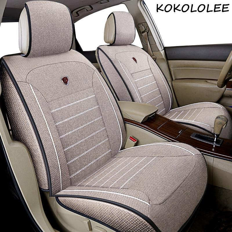 Kokololee universal linho tampas de assento do carro para audi todos os modelos q7 a3 a8 a4 b7 b8 b9 q5 a6 c7 a5 q3 estilo do carro acessórios automóveis