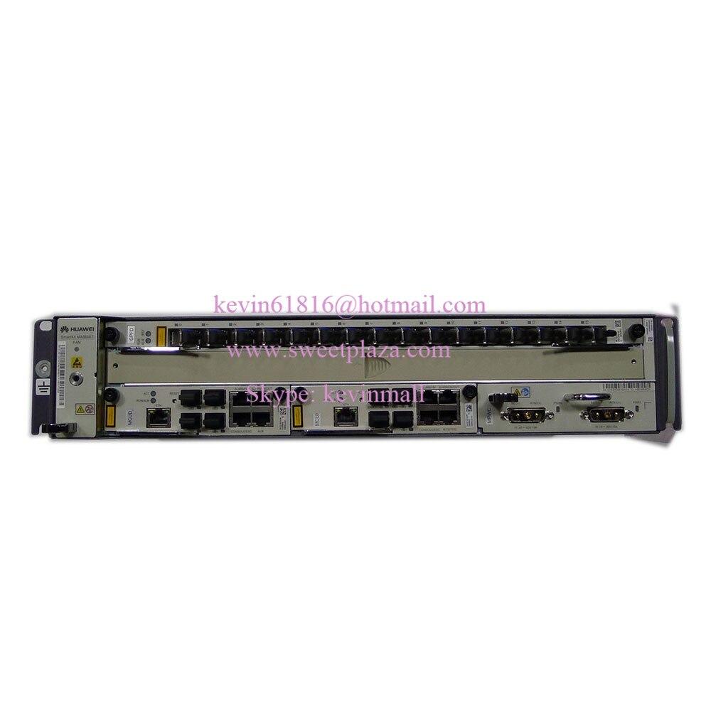 Hua wei mini GPON или EPON OLT MA5608T с 2 * MCUD + 1 * MPWC + 1 * GPFD C +