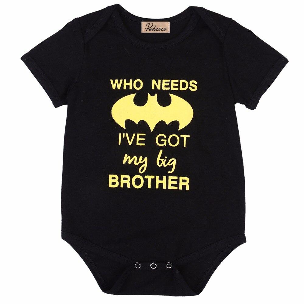 cute Toddler Baby Boy Girl Batman Romper Jumpsuit Sunsuit Clothes Outfits t shirt 0-24M children kids clothes