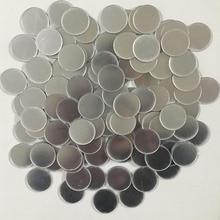 Miroir en acrylique 2*2cm 100 pièces/ensemble   Autocollant Mural circulaire à pois pour enfants, chambres denfants, pépinière, décoration de maison, autocollant Mural rond, bricolage