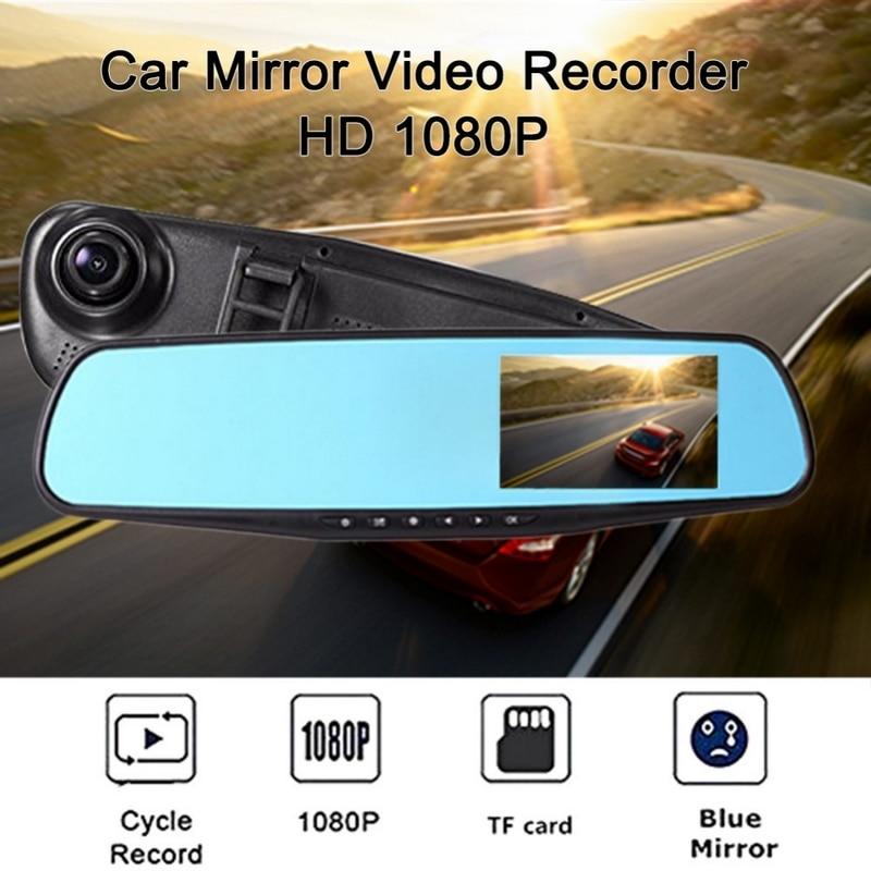 7*4.3CM 1080P HD Dash Camera Mirror 170 Degree Auto Driving Recorder Camera Dash Cam Mirror Car Dvr With Car Charger