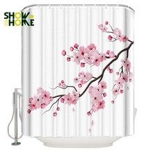 SHOWHOME Shower Curtain Japanese Cherry Blossom Shower Curtain Bathroom Decor