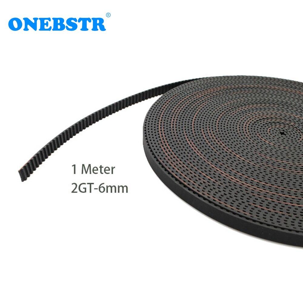 1 metro 2 GT-6mm correa de distribución de apertura de goma GT2 GT2-6mm de correa para 6mm Correa piezas de impresora 3D envío gratis