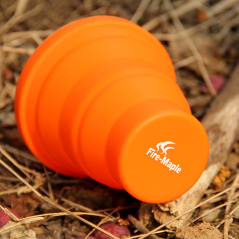 Camping silicón plegable taza portátil para acampar al aire libre vajilla taza botella fuego Arce FMP-319 200ml 44g envío gratis