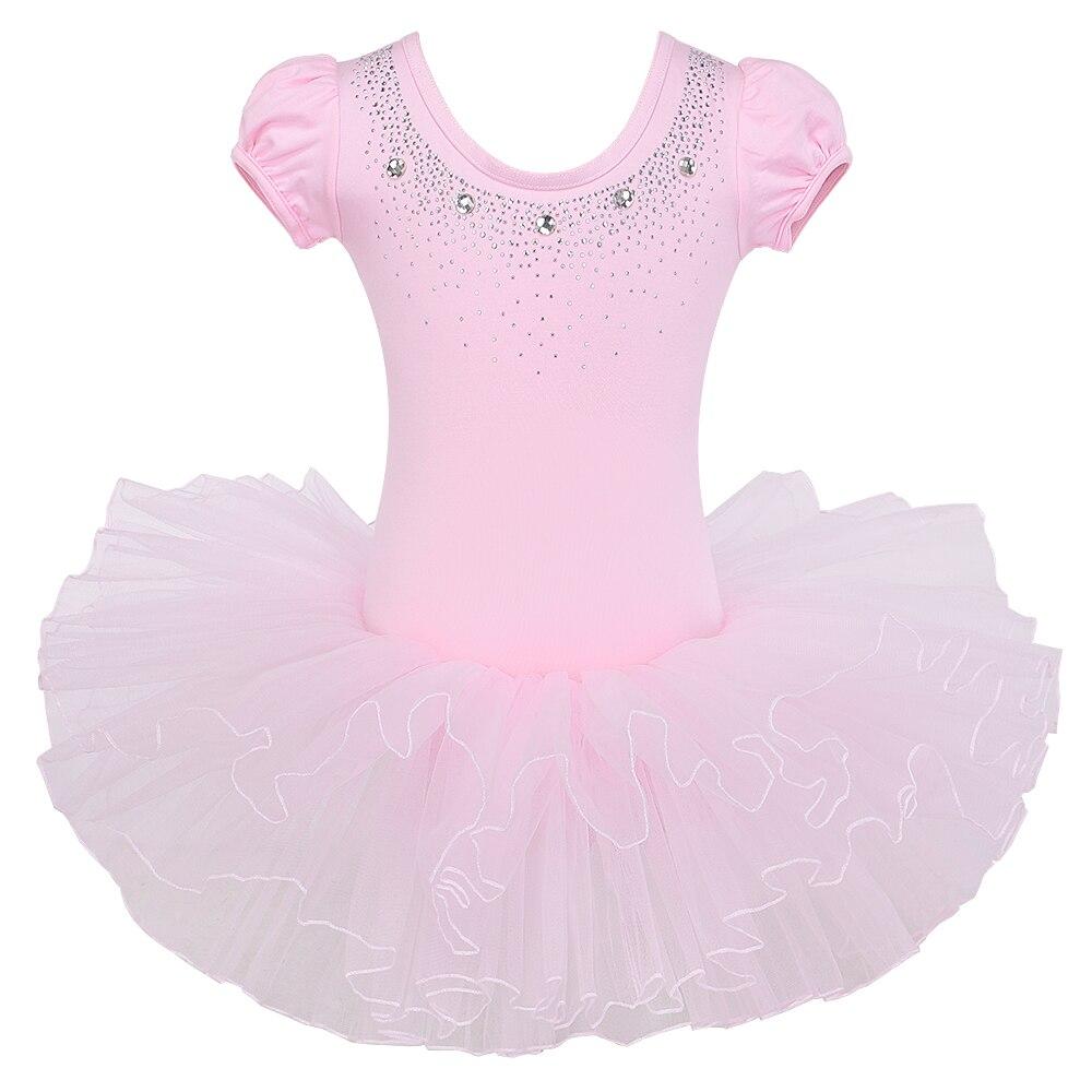 BAOHULU Hot Wholesale Ballet Baby Girls Clothes Kid Dance Leotards Ballet Tutu Dance wear Skate Party Girls Show Dress Age 3-8Y
