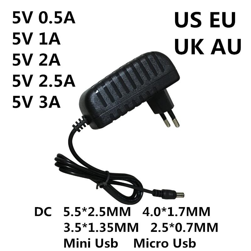Adaptador de CA/CC de 5 V, 0.5A, 1A, 2A, 2.5A, 3A, CA,...