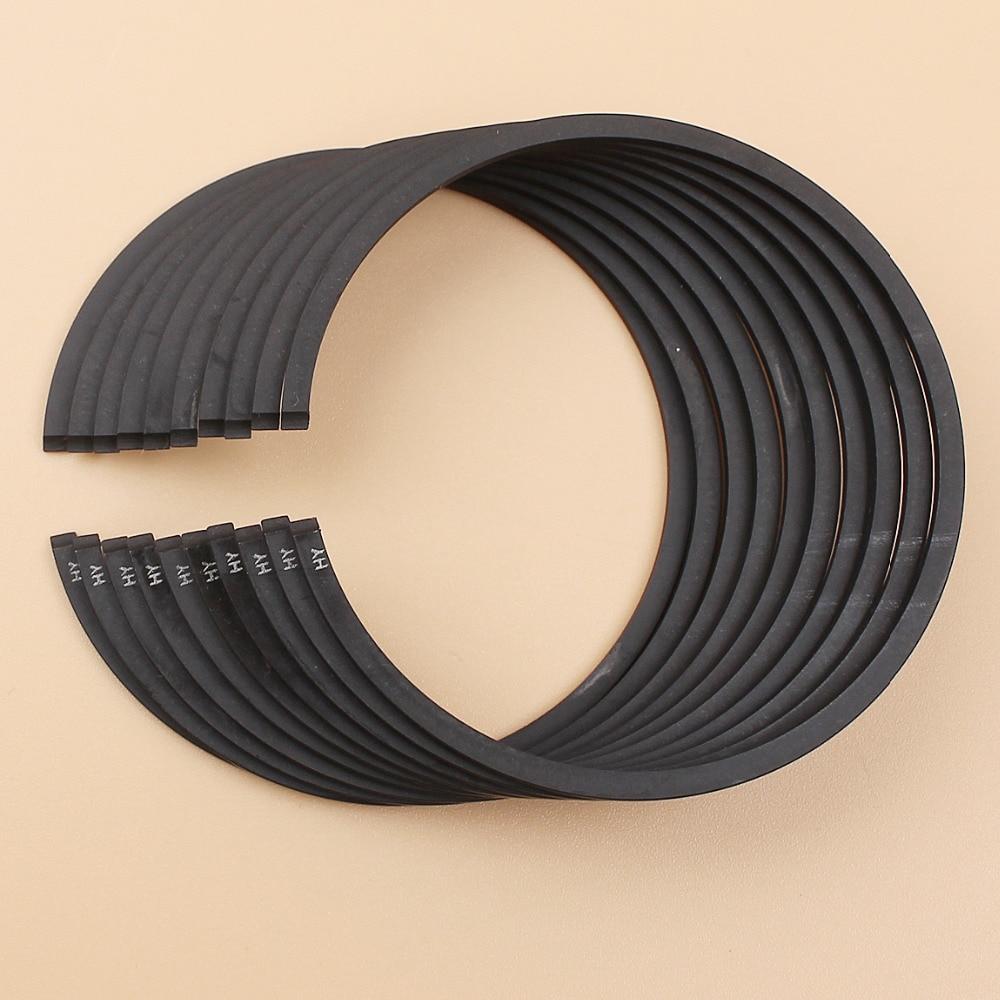 10 unids/lote anillo de pistón anillos de 50mm x 1,2mm para HUSQVARNA 365 365XP 371 372 372XP 362 motosierra de reemplazo 11280343000