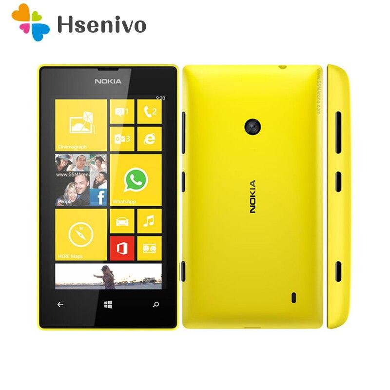 Nokia Lumia 520 reformado-Original Lumia 520 desbloqueado teléfono Dual Core 3G WIFI...