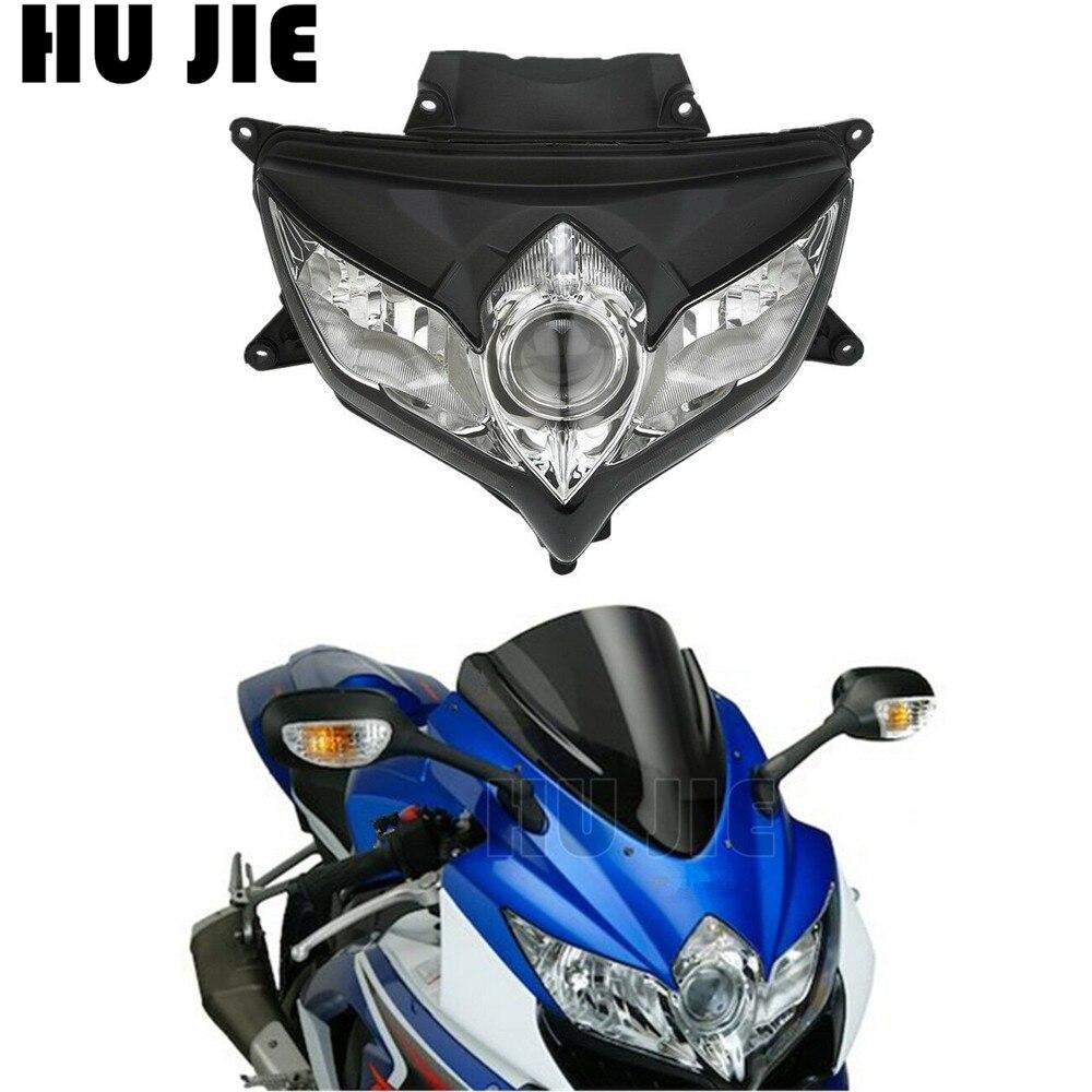 Conjunto de faro delantero de motocicleta para Suzuki GSXR 600 750 K8 2008 2009/GSXR600 GSXR750 08 09 ABS de alta calidad