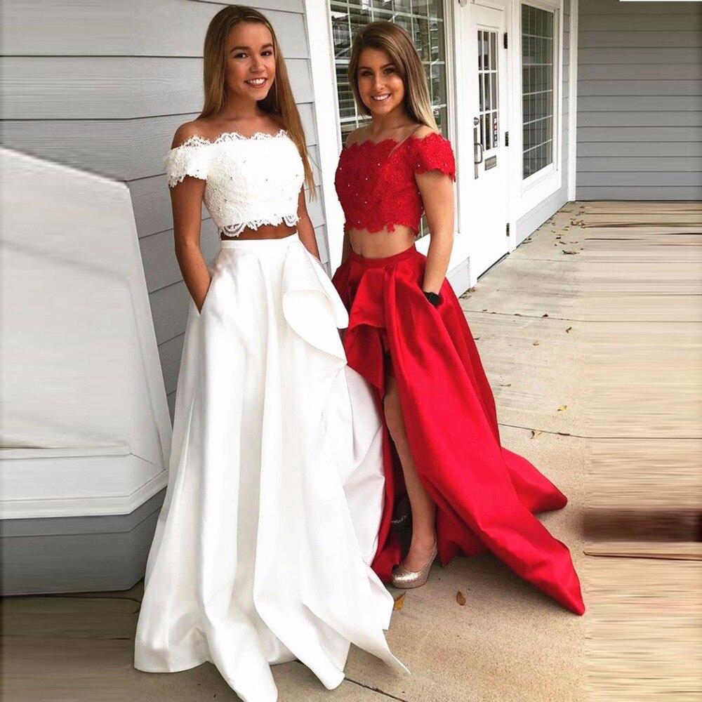 تنورة ساتان للنساء, تصميم خاص مكشكش وشق على الجانب مع جيوب صناعة مخصصة 2018