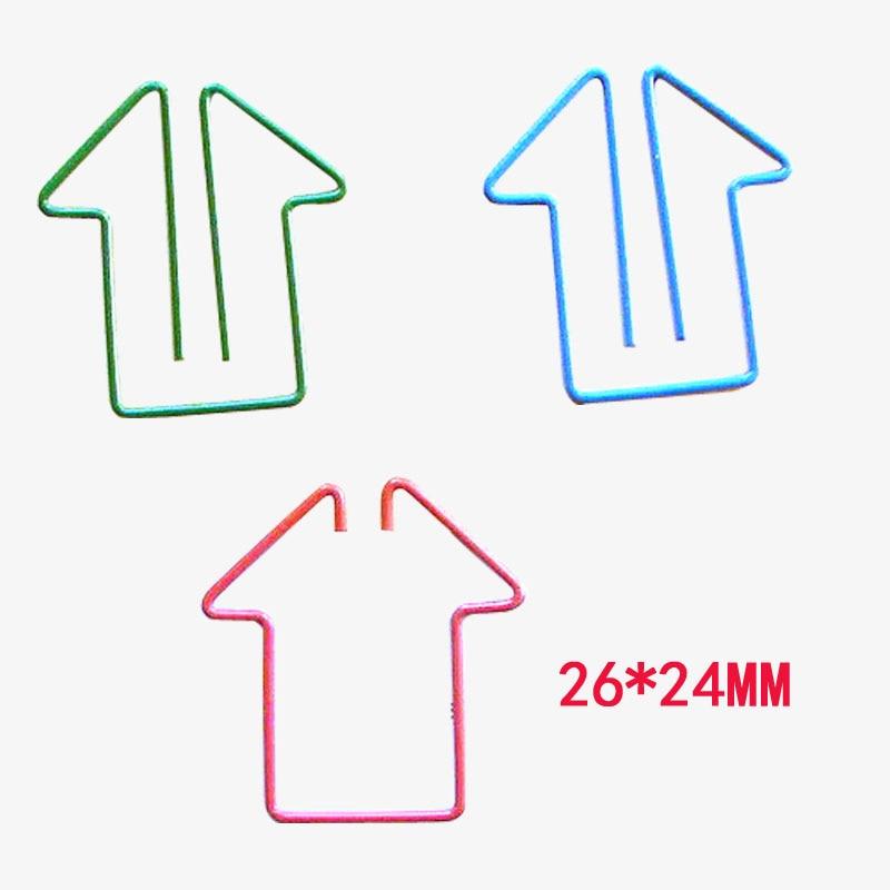 Forma de Casa de clips de papel 26*24mm estudiante papelería lindo clips de papel marcapáginas suministros de oficina 200 unids/lote