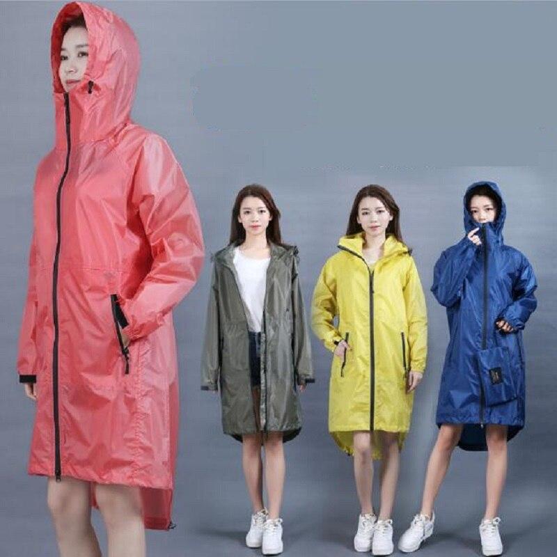 Chubasqueros largos mujeres hombres Impermeable ropa Impermeable lluvia abrigo para los hombres Impermeable de lluvia Impermeable chaquetas con capucha capa de lluvia de las mujeres