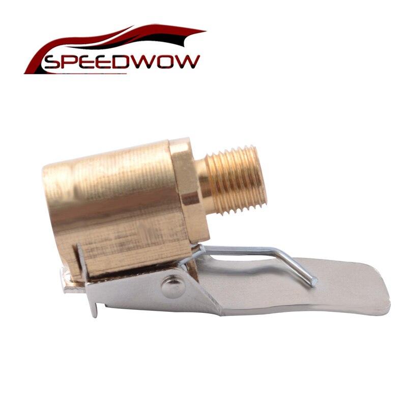 SPEEDWOW 1PC Auto Lkw Reifen Reifen Inflator Ventil Stecker Reifen Air Chuck Messing Luftpumpe Chuck Reifen Ventil 8mm Pumpe Ventil Clip