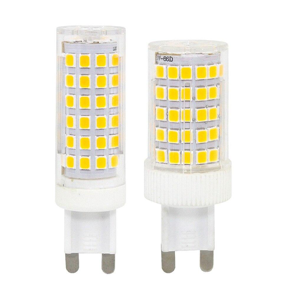 1 Uds de G9 lámparas luz LED tipo vela 220V 230V 8W 10W 76 86 LEDs 2835 SMD maíz cristal claro Spotlight hogar iluminación