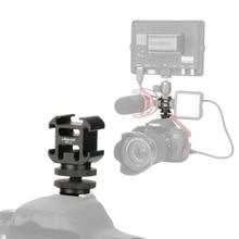 Ulanzi 0951 PT-3S adaptateur de montage de chaussures chaudes avec BY-MM1 de montage Microphone Mini LED lumière vidéo pour appareil photo reflex numérique pour Canon pour Nikon