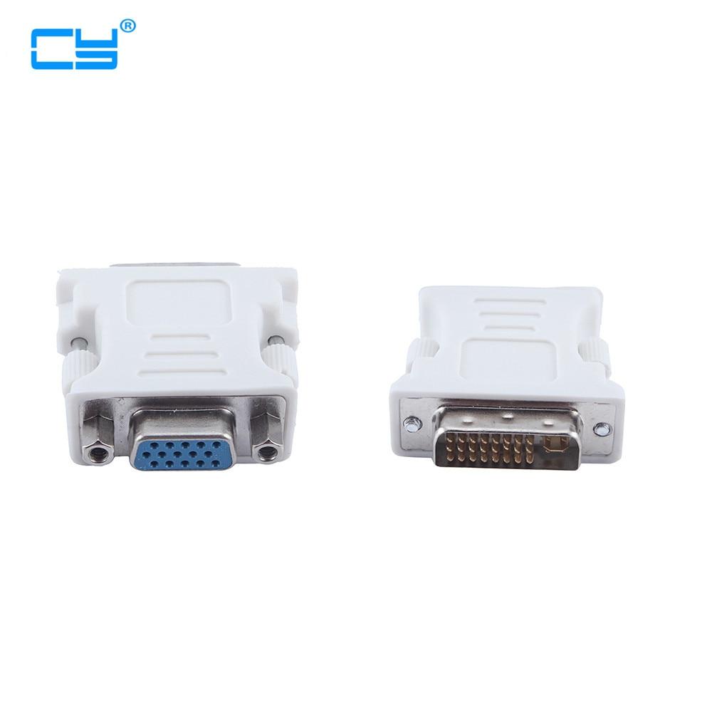 10 шт./лот DVI-I 24 + 5 Штекерный HD 15 Pin VGA SVGA женский видеокарта монитор ЖК-конвертер адаптер