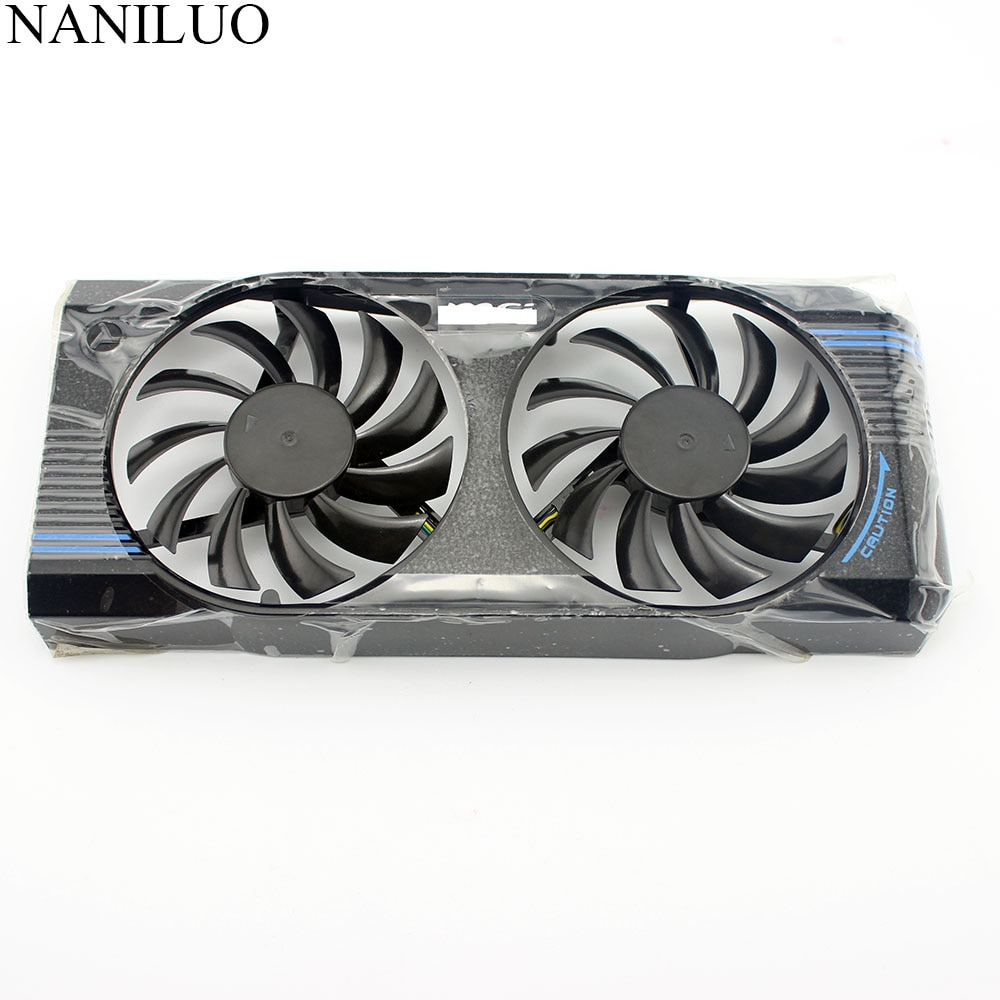 PLD08010S12HH DC 12V 0.35A 4pin  Fan For MSI GTX460 GTX560 V5 15/SE Fan 75MM HD 7770 Graphics Cards  Cooling Fan With frame Fan