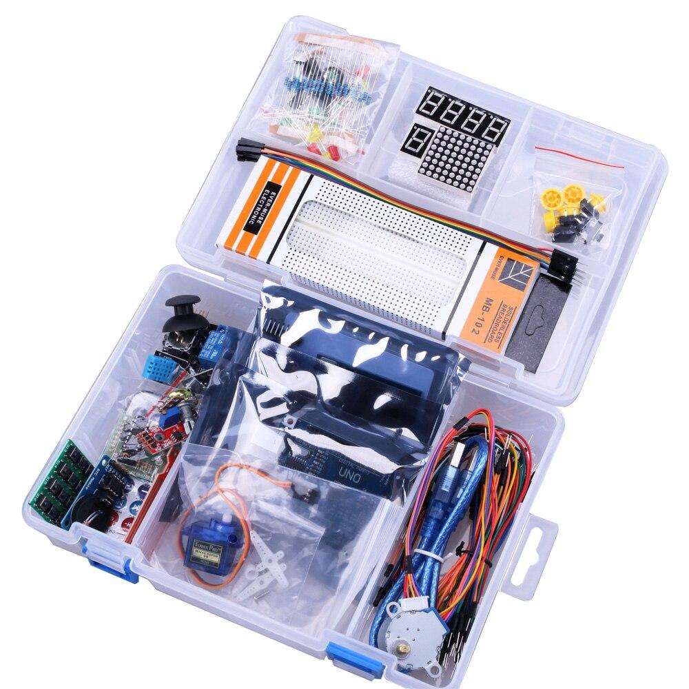 UNO R3 Starter KIT versión mejorada del Kit de Inicio RFID Learning Suite LCD 1602 para arduino kit