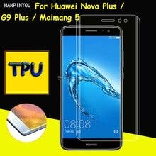 Full Coverage Clear Soft TPU Film Screen Protector For Huawei Nova Plus/G9 Plus/Maimang5 Cover Curve
