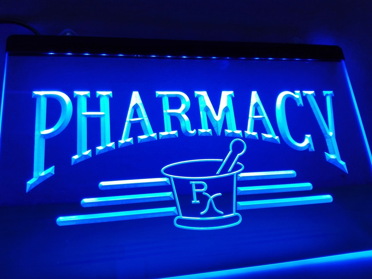 LK941- Pharmacy Compounding RX nuevo letrero de neón con luz LED manualidades decorativas para el hogar