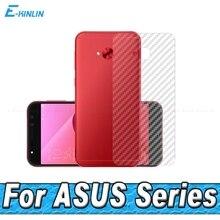 3D الكربون الألياف الخلفية شاشة حامي ل Asus ZenFone 4 Selfie برو ZD552KL ZE554KL ZS551KL الغطاء الخلفي واقية الحرس فيلم