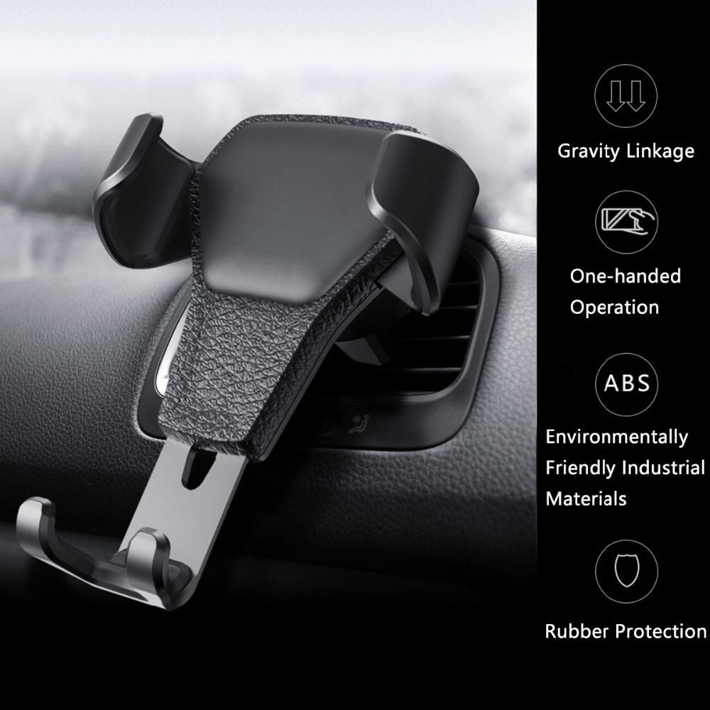 Nuevo estilo de salida de coche soporte para teléfono móvil impresiones montadas en el coche soporte de teléfono móvil de gravedad fabricante de suministros de coche