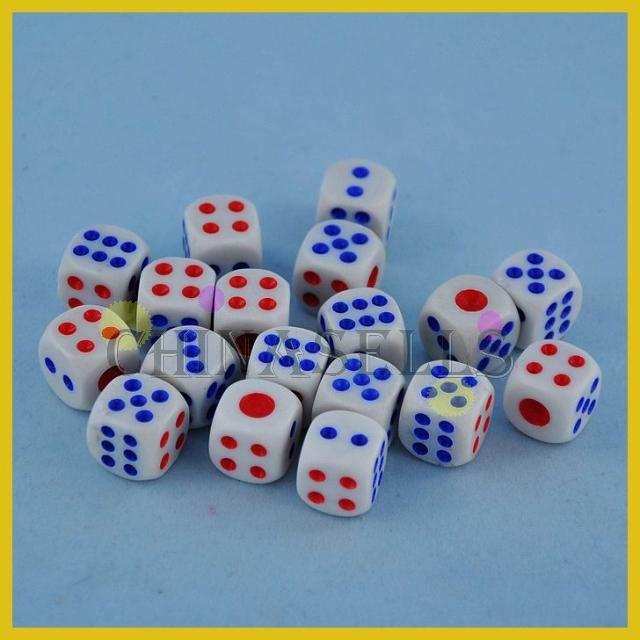 30 Uds fichas y dados de póker 14mm seis lados Spot tabla divertida juego dados KTV bar juegos partido dados juego de dados