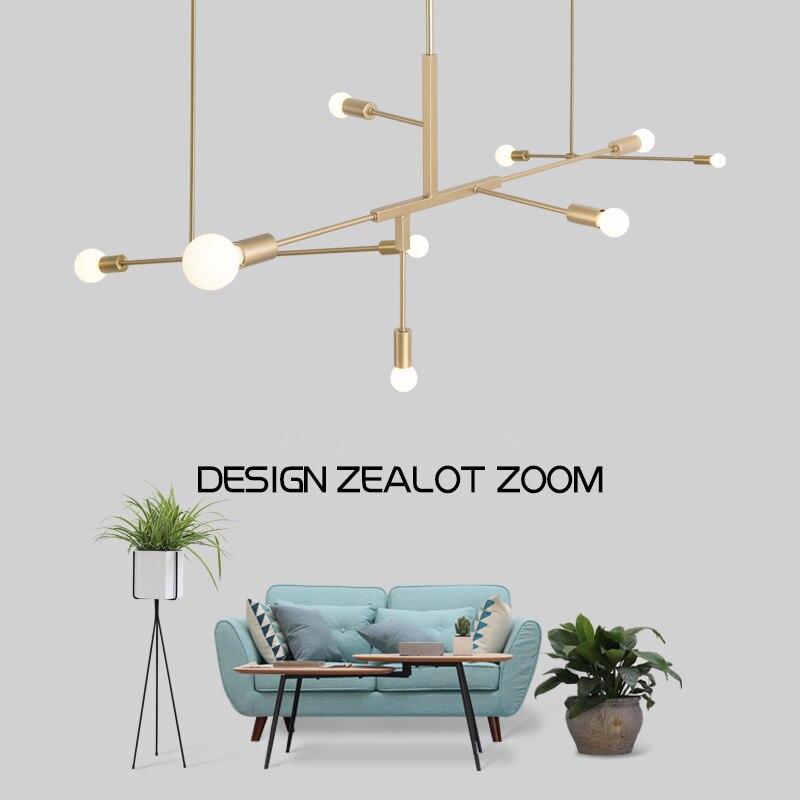 الشمال الحديثة الذهب قلادة led أضواء غرفة نوم غرفة الطعام المطبخ hanglampen voor eetkamer E27 LED مصباح اديسون ضوء لمبة
