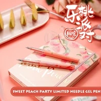 andstal cute sweet peach party black ink gel pen 0 5mm mg kawaii pens korean stationery school supplies pens gelpen