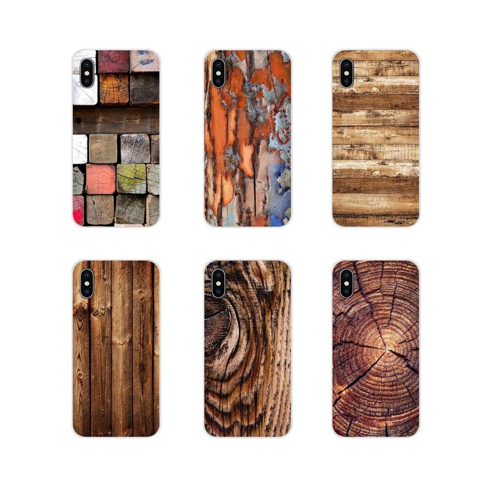 Voor Huawei G7 G8 P7 P8 P9 P10 P20 P30 Lite Mini Pro P Smart Plus 2017 2018 2019 Mobiele telefoon Bag Case Houten Patroon Houten Texturen