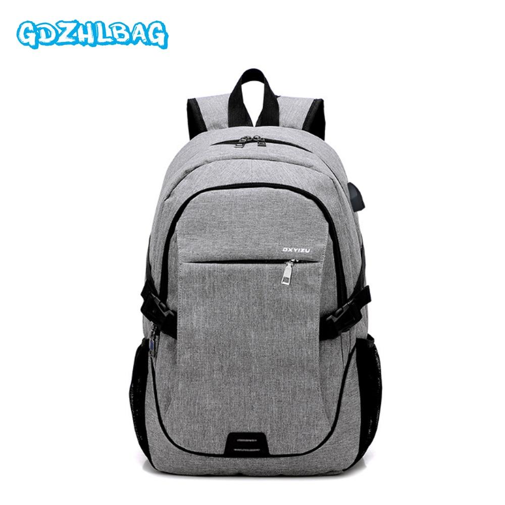 GDZHLBAG mochilas Oxford impermeables antirrobo de gran calidad, Cargador USB, mochila impermeable con cremallera, mochila de viaje para mujer, mochila B197