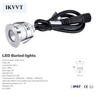 led inground 10pcs Waterproof outdoor recessed 3w mini led garden light free shipping