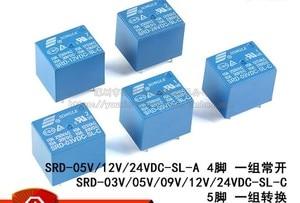 SRD-03V 05V 12V 24VDC-SL-C 10A 5Pin electric relays ( A set of transformations )