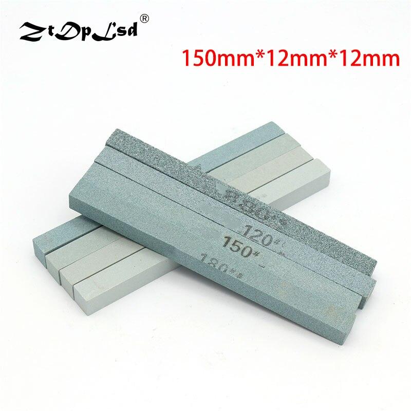 1 шт. 150x12 мм 80-1200 зернистый масляный камень зеленый карбид кремния песочный абразивный квадратный нефритовый нож точилка для заточки силикона