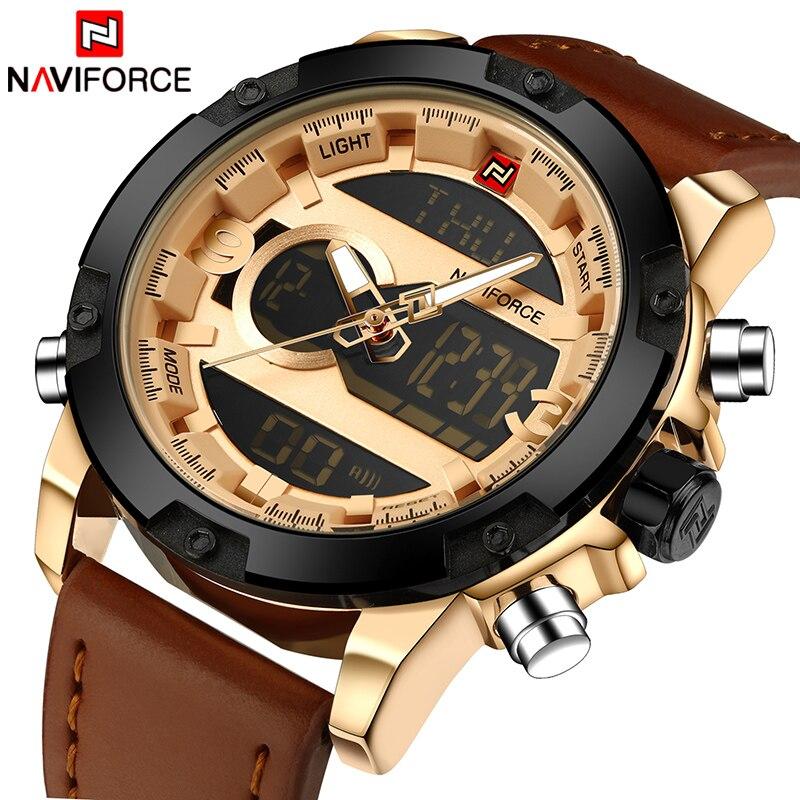 NAVIFORCE Top Luxury Brand Men Sport Watches Men's Quartz LED Analog Clock Man Military Waterproof Wrist Watch relogio masculino
