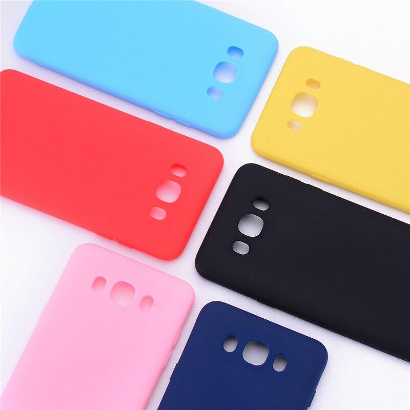 Fundas de silicona para Samsung Galaxy J7 2016 j710 J710F Color caramelo de silicona cubierta de teléfono de TPU suave para Samsung J7 2016 cubierta