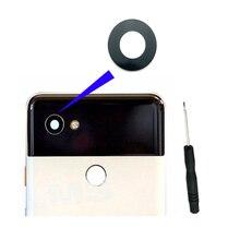 """Original para htc google pixel 2 5.0 """"2 xl 2xl 6.0"""" câmera traseira do telefone móvel lente de vidro capa substituição com adesivo + ferramentas"""