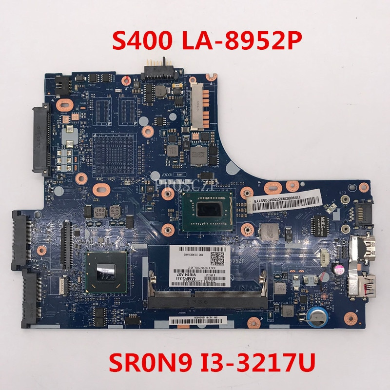 Frete grátis Para Laptop motherboard VIUS3 S400/VIUS4 LA-8952P Com SR0N9 I3-3217U CPU 100% funcionando bem