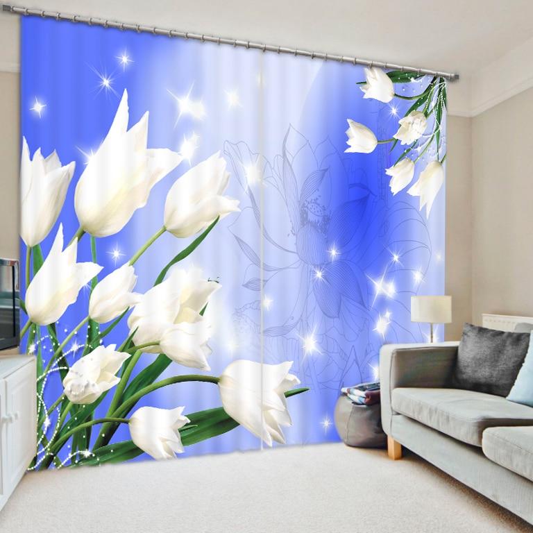 Hermosas cortinas de impresión en 3D con sala de cama sala de estar o cortianos de Hotel cortinas gruesas para ventana