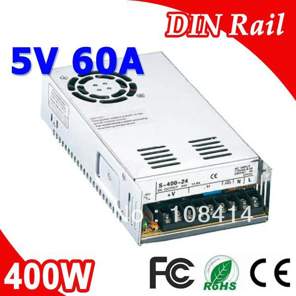 S-400-5 400W 5V LED Power Supply Transformer 110V 220V AC To DC 5V Output Driver for CCTV Camera LED Strip