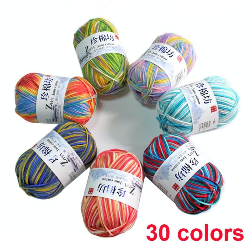 50 g/pcs de leche natural grueso hilo de algodón para tejer bebé lana para crochet tejer hilo de 4 capas