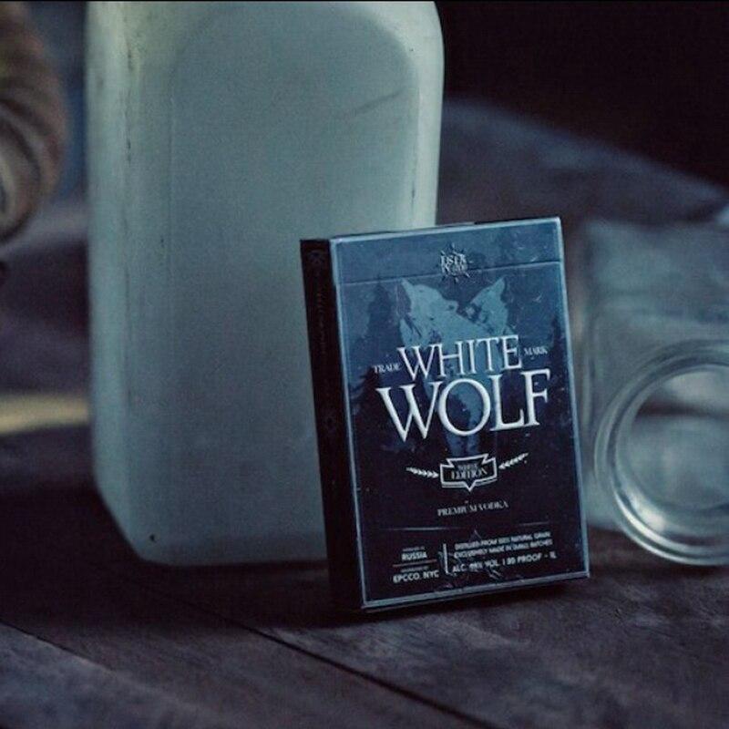 1 Juego de cartas de Vodka White Wolf de Ellusionist, Serie de prohibición de trucos de magia