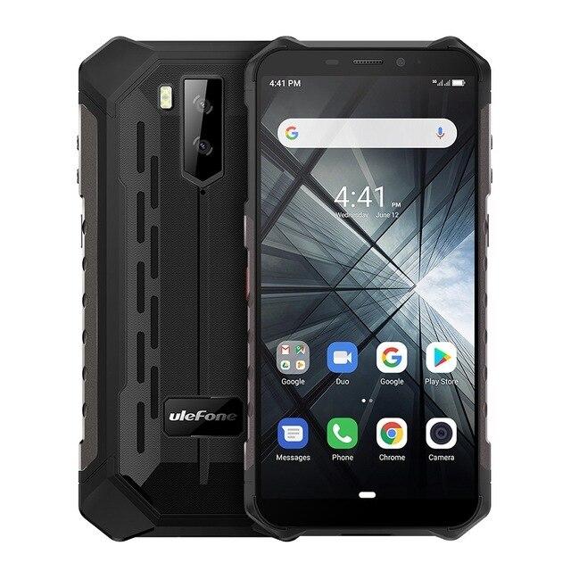 Перейти на Алиэкспресс и купить Ulefone Armor X3 смартфон с 5,5-дюймовым дисплеем, процессором MT6580, ОЗУ 2 Гб, ПЗУ 32 ГБ, Android 2019, 8 Мп, 9,0 мАч