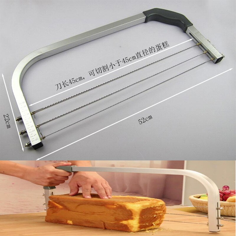 BEEMSK 1 قطعة ماكس 45 سنتيمتر الخبز أدوات كعكة كبيرة الفاصل Layerer القطاعة كعكة شطيرة القطاعة كعكة المنشار